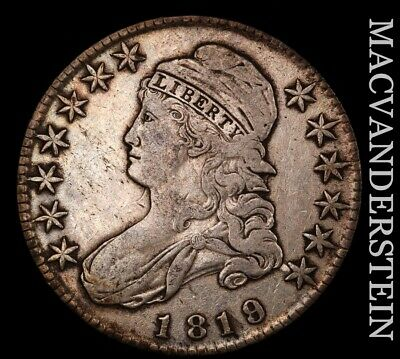 1819/8 Capped Bust Half Dollar - Semi-key  Extra Fine  Better Date  #H7523