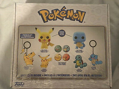 Funko Box Pokemon Flocked POP! Pikachu And Squirtle Box GameStop Exclusive