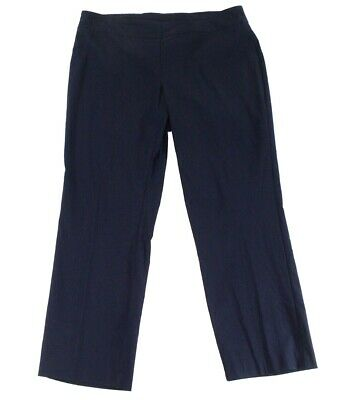 Tribal Womens Pants Ink Blue Size 24W Plus Pull-On Solid Stretch $66- 735