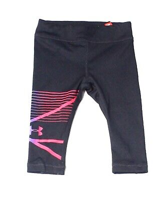 Under Armour Black Baby Girls Size 12 Months Printed Leggings Bottoms 774