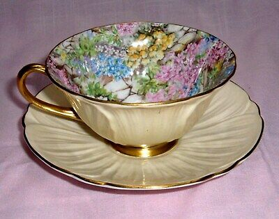 Vintage Shelley Cup & Saucer Floral Chintz Oleander Rock Garden, As Found