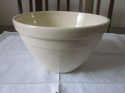 Vintage Large Cream Hoffman Pottery Mixing Bowl