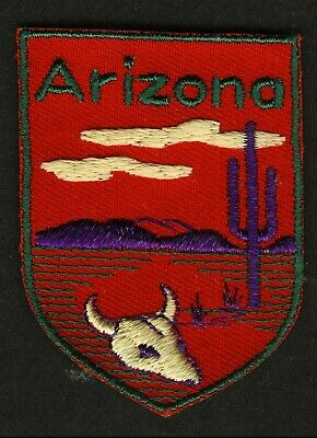 Vintage Arizona Embroidered Cloth Souvenir Travel Patch