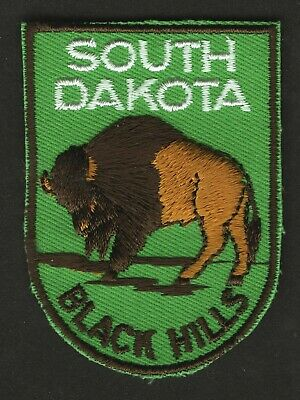 Vintage Black Hills South Dakota Embroidered Cloth Souvenir Travel Patch