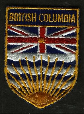 Vintage British Columbia Canada Embroidered Cloth Souvenir Travel Patch