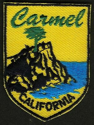 Vintage Carmel Ca Embroidered Cloth Souvenir Travel Patch