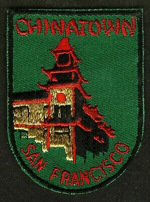 Vintage Chinatown San Francisco Ca Embroidered Cloth Souvenir Travel Patch