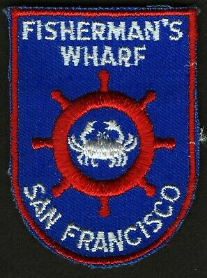 Vintage Fisherman's Wharf San Francisco Ca Embroidered Cloth Souvenir Travel Pat