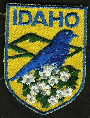 Vintage Idaho Embroidered Cloth Souvenir Travel Patch