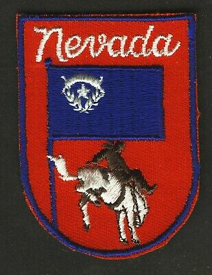 Vintage Nevada Embroidered Cloth Souvenir Travel Patch