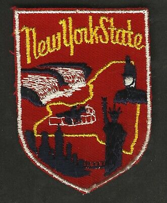 Vintage New York State Embroidered Cloth Souvenir Travel Patch