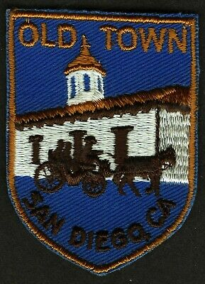 Vintage Old Town San Diego Embroidered Cloth Souvenir Travel Patch