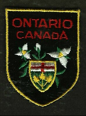 Vintage Ontario Canada Embroidered Cloth Souvenir Travel Patch