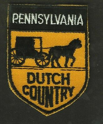 Vintage Pennsylvania Dutch Country Embroidered Cloth Souvenir Travel Patch