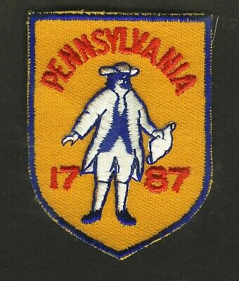 Vintage Philadelphia 1787 Embroidered Cloth Souvenir Travel Patch