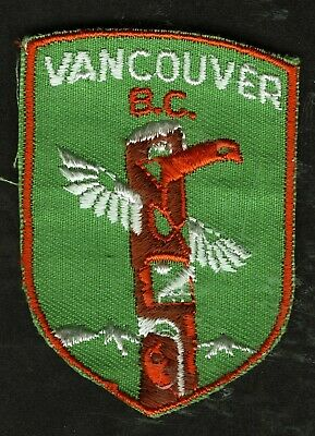 Vintage Vancouver Bc Canada Embroidered Cloth Souvenir Travel Patch