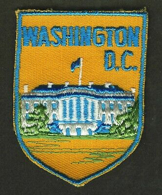 Vintage Washington White House Embroidered Cloth Souvenir Travel Patch