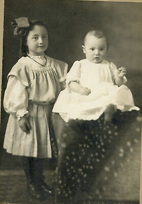 Antique Vintage Photo Cabinet Card CUTE KIDS GIRL BABY FASHION