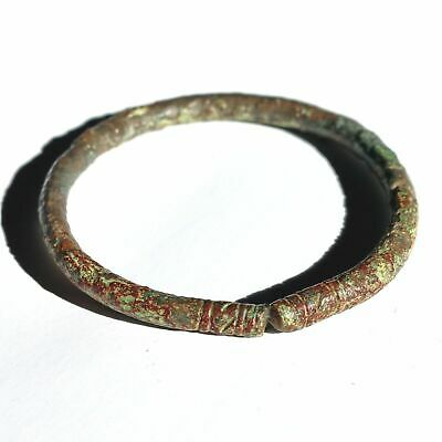 ANTIQUE VIKING VARIANGIAN DECORATED BRONZE BRACELET FROM RUSSIA 800-1000 b.C.
