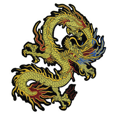 Dragon Patch Lace Embroidery Embossed Sew On Appliques  Clothes Decor DIY Craft