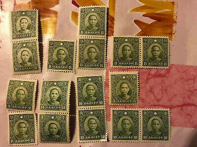 Chinese Stamps Small Selection Of Old Mint Stamps