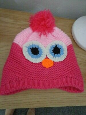 girls owl hat great to help you keep warm this winter L@@K