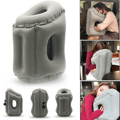 Comfortable Inflatable Cushion Air Travel Pillow Neck flight Support Nap 2 Sizes