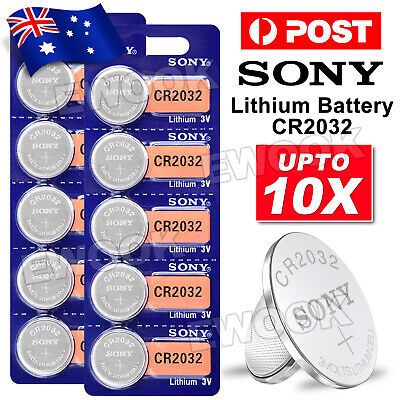 Upto 10x Genuine SONY CR2032 Battery 3V Lithium Blister Batteries Button