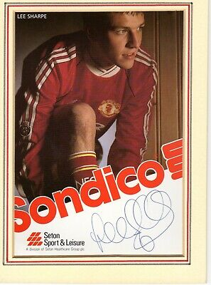 Lee Sharpe Autograph, Manchester United,  Football, Soccer