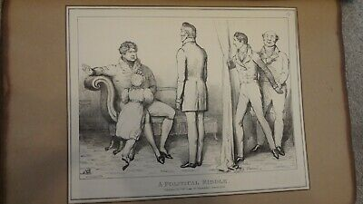 C1830'S Political Sketches. H.b. John Doyle 'A Political Riddle .