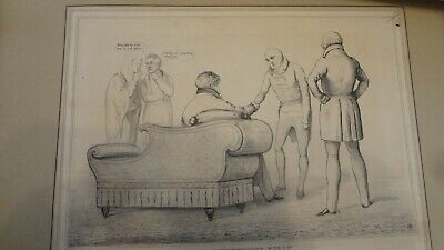 C1830'S Political Sketches. H.b. John Doyle 'The Mysterious Visit. .