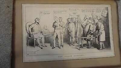 C1830'S Political Sketches. H.b. John Doyle ' Police Activity'
