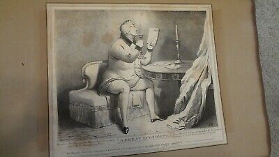 C1830'S Political Sketches. H.b. John Doyle 'Great Economist