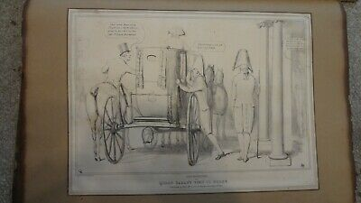 C1830'S Political Sketches. H.b. John Doyle 'Queens Visit To Bushy