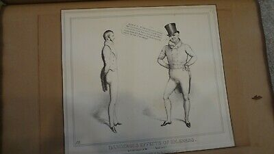 C1830'S Political Sketches. H.b. John Doyle ' Effects Of Idleness'