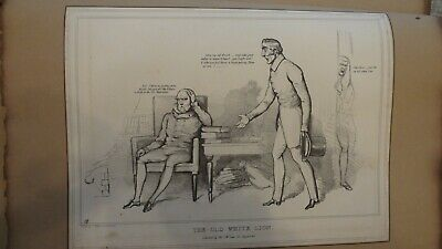 C1830'S Political Sketches. H.b. John Doyle 'The Old White Lion.