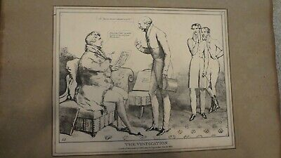 C1830'S Political Sketches. H.b. John Doyle 'The Vindication