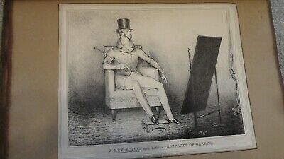 C1830'S Political Sketches. H.b. John Doyle ; Prospects Of Greece'