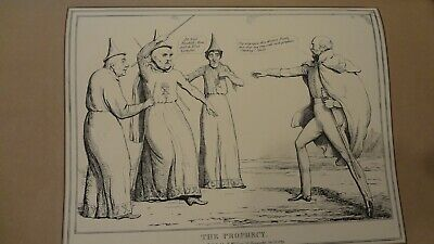 C 1830'S H .B. Political Sketches. 'The Prophecy' Pub By Thomas Mclean