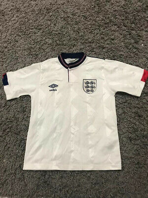Original 1988 ENGLAND Home Umbro Football Shirt Size 30/32 Inches  Retro