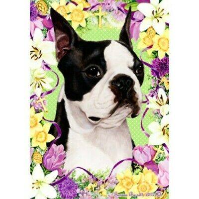 Easter Garden Flag - Boston Terrier 330321
