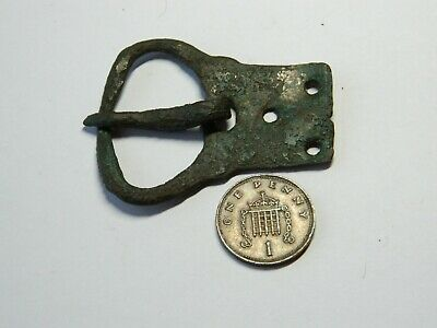 Large Un researched Norman early Medieval bronze buckle metal detecting detector