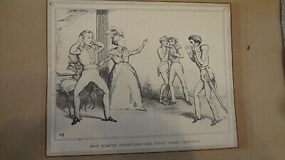 C1830'S Political Sketches. H.b. John Doyle 'Don Miguel Recieving News .