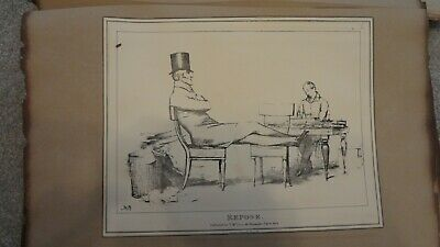 C1830'S Political Sketches. H.b. John Doyle 'Repose .