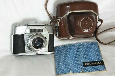 VINTAGE AGFA COLORFLEX (TYPE 3015) 35mm SLR CAMERA WITH CASE AND INSTRUCTIONS