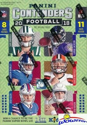 2018 Panini Contenders Football HUGE FANATICS DOUBLE Blaster Box-EXCLUSIVE RUBYS