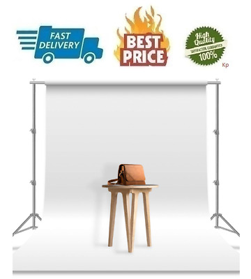 Studio Backdrop Background White 6 x 9 Ft Photoshoot Cotton Durable Photography