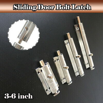 Heavy Duty Solid Zinc Alloy Sliding Door Bolt Dead Lock Slide Gate Catch 3-6inch
