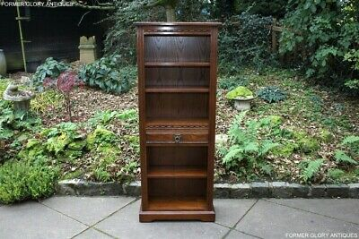 Old Charm Light Oak Open Bookcase Bookshelves Cd Dvd Display Cabinet Unit Stand