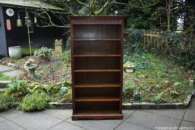 Old Charm Light Oak Open Bookcase Bookshelves Dvd Cd Display Cabinet Unit Stand